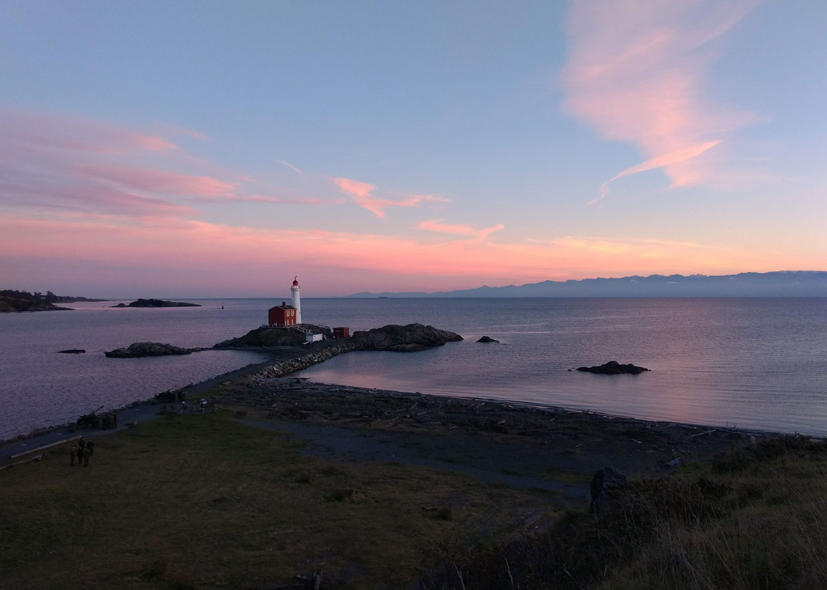 Fisgard Lighthouse at Sunset